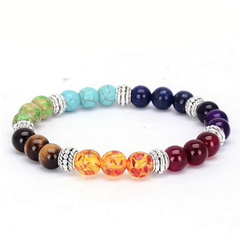 chakra bracelet 2016 new 1pc 7 chakra bracelets bangle colors mixed
