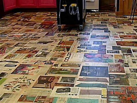 decoupage floors diy decoupage floor treatment diy