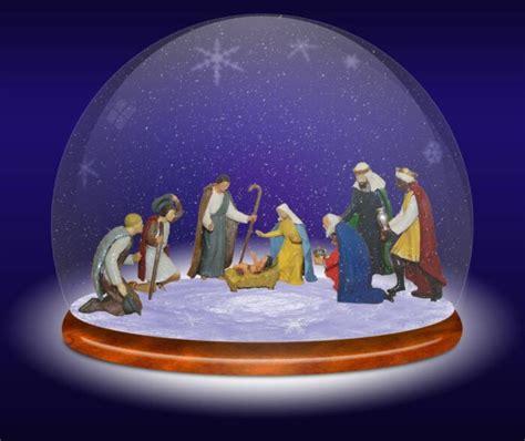 manger snow globe nativity snow globe
