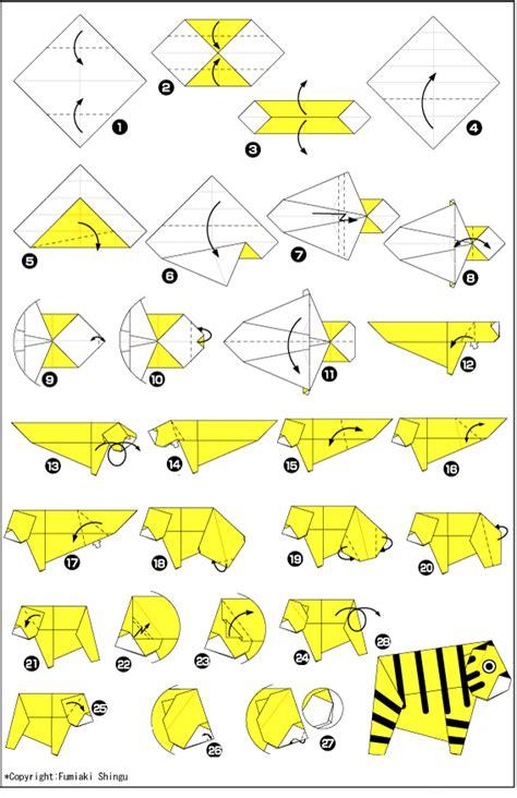 origami tiger origami paper tiger scheme and origami