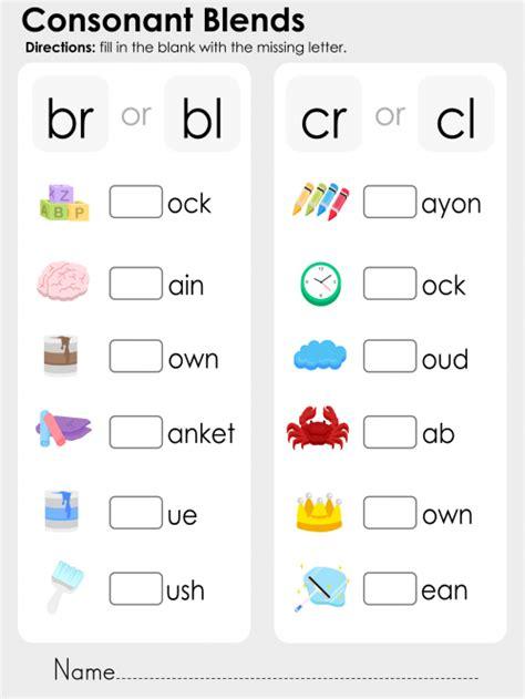cl list consonant blends br bl cr cl kidspressmagazine