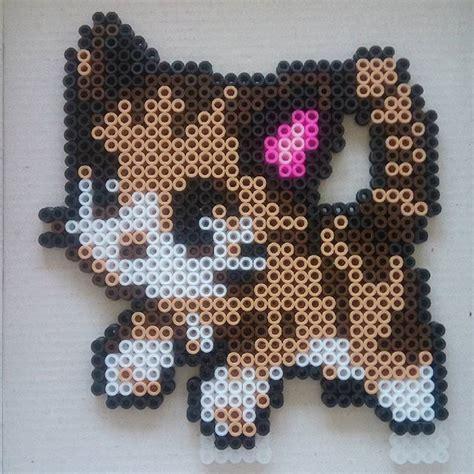 perler bead cat cat hama by sandreta nez perler bead