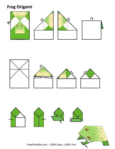 origami frog printable origami frog comot