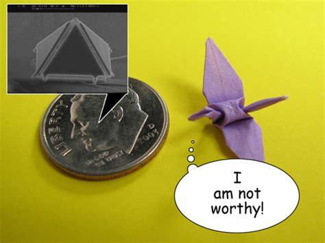 when was origami invented micro origami puts miniature paper crane folders to shame