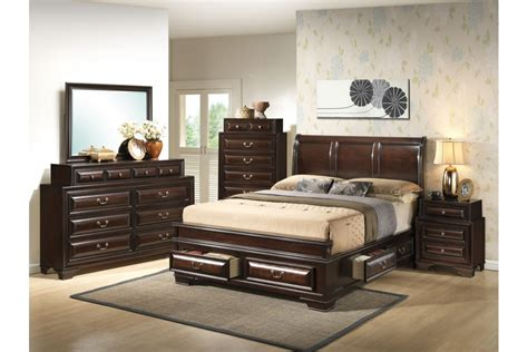 bedroom set with storage bedroom sets south coast cappuccino king size storage