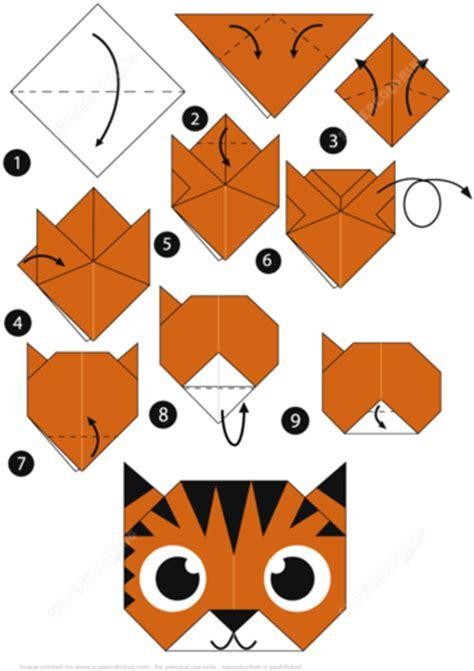 tiger origami origami tiger step by step tutorial origami handmade