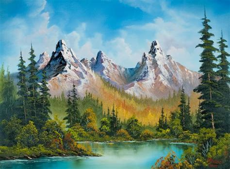 bob ross of painting uk bob ross autumns magnificence painting id 85984 bob ross