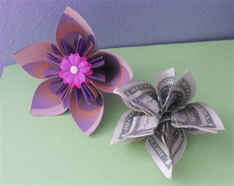 origami money flower with one bill money origami flower edition 10 different ways to fold a