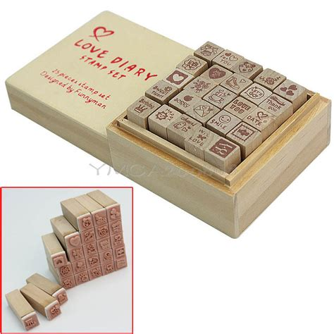 rubber sts for cardmaking and scrapbooking 1 box 25pcs wooden st rubber for card