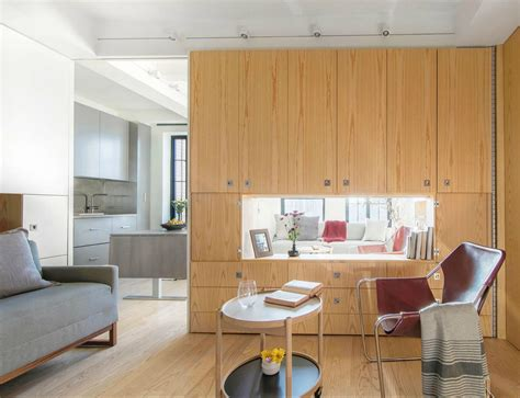 400 square apartment 400 square foot apartment uses clever pivot wall to divide