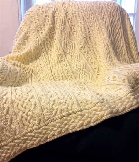 celtic knitting patterns twisty celtic aran afghan pattern by hwang cable