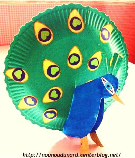 peacock paper plate craft paper plate peacock excellent idea paon avec
