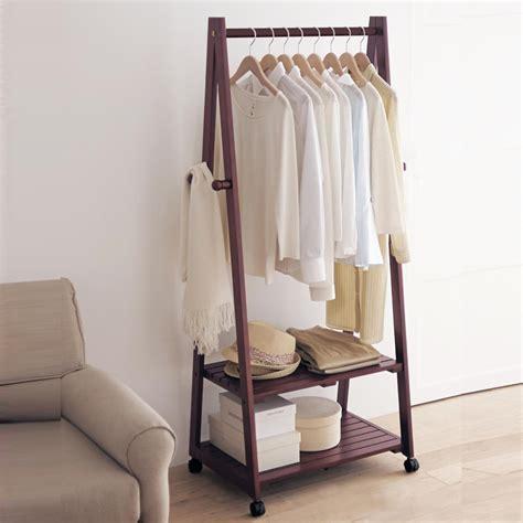 bedroom clothes rack creative home yi wood floor coat rack hanger hanger floor