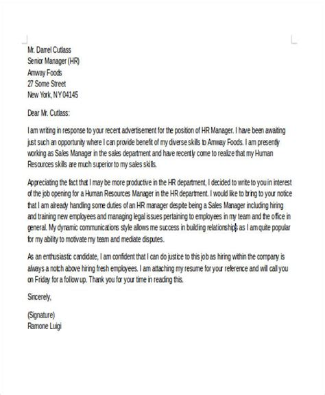 6 career change cover letter free sample example