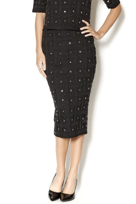 beaded skirts search for sanity beaded midi skirt from massachusetts by