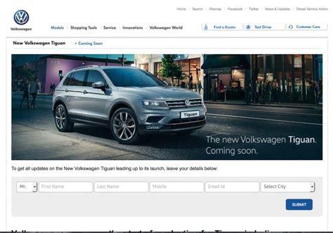Volkswagen Official Website by Vw Tiguan Updated On Vw India S Website