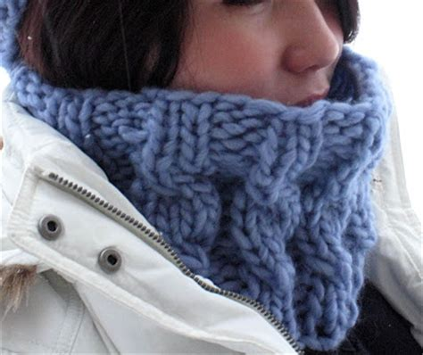 free knitted cowl patterns cables s speedy cabled cowl pattern