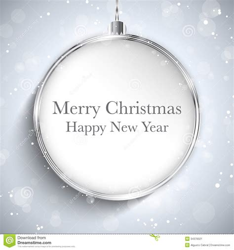 happy new year rubber st merry happy new year silver with st stock