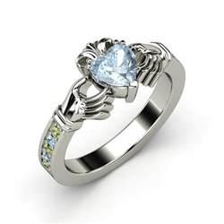jewelry ring aquamarine claddagh ring eleonor jewelry