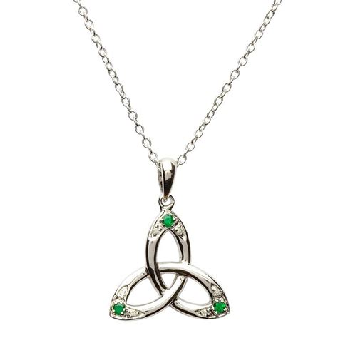 how to make celtic jewelry necklace with emeralds and diamonds celtic