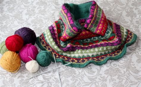 fair isle cowl knitting pattern colorful fair isle style cowl knitting pattern instant