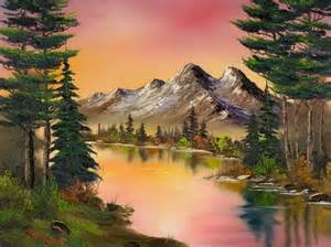 bob ross painting happy trees bob ross a sunset or you choose beautifully done
