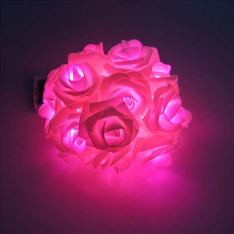 led flower string lights battery powered lighting 20 x led novelty