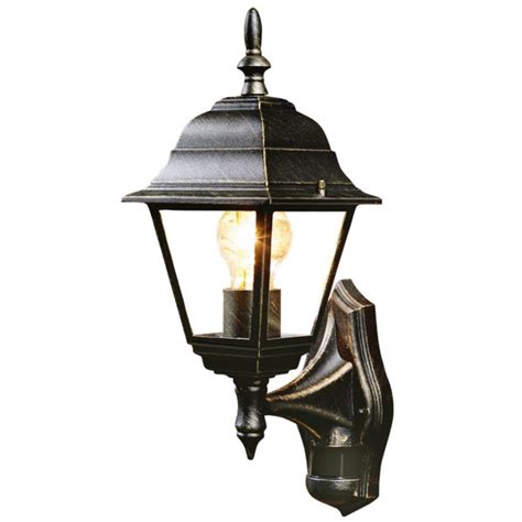 outdoor lights b q b q penarven outdoor wall light in black and gold wall