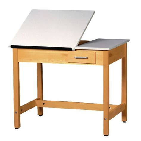 split drafting table shain split top drafting table w small drawer 30 quot h