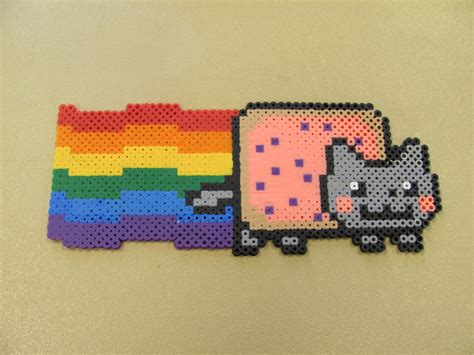 perler bead cat perler bead nyan cat for astro diy