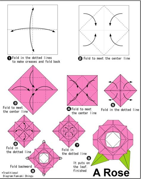 origami flower printable easy origami for other