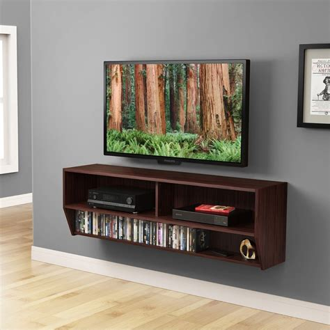 entertainment center shelves 48inch wall mount media entertainment console center desk