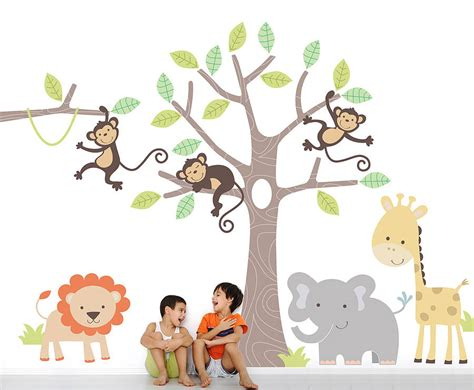 childrens nursery wall stickers children s jungle wall stickers by parkins interiors