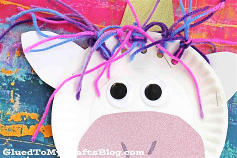 unicorn crafts for paper plate unicorn kid craft glued to my crafts
