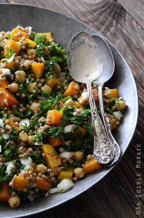 Roasted Butternut Squash Salad with Chickpeas, Kale, and ...
