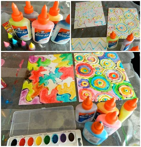 painting craft projects watercolor glue bottle for crafty morning