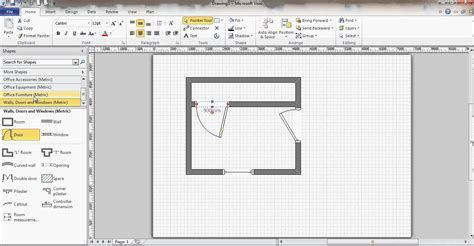 floor plan visio microsoft visio floor plan