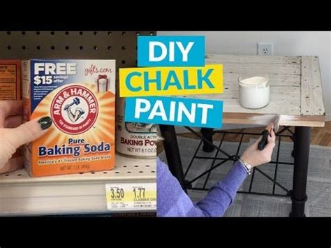 diy chalk paint made with baking soda 17 best ideas about water paints on how to