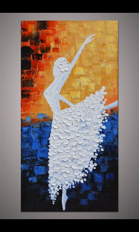 can acrylic paint be used on canvas painted ballerina painting wall picture