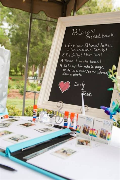 polaroid picture wedding guest book 12 best images about polaroid guest book on
