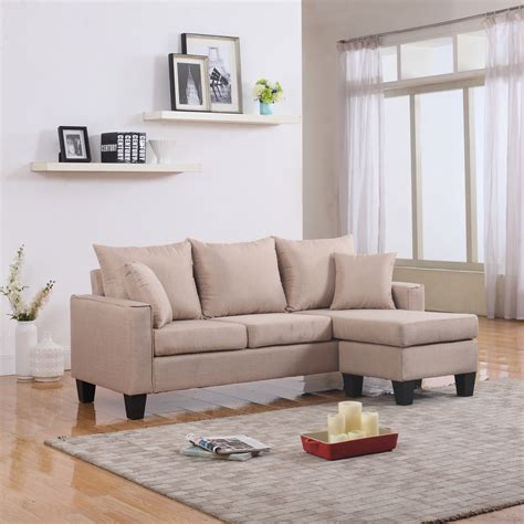 small modern sectional sofa modern fabric small space sectional sofa with reversible