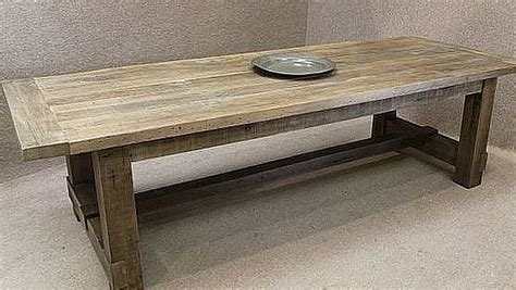 Traditional Dining Room Tables reclaimed oak table a chunky substantial table made with