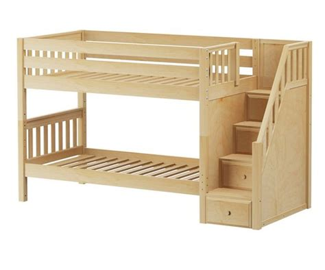 wood loft bunk bed top 25 best bunk beds with stairs ideas on