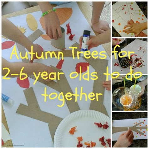 arts and crafts projects for 2 year olds collaborative autumn tree collage for