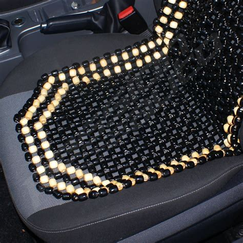 beaded car seat cover black wooden bead beaded car taxi front seat