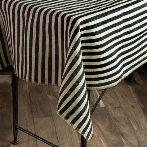 burlap table toppers 47 quot square black stripe burlap table topper njs t120