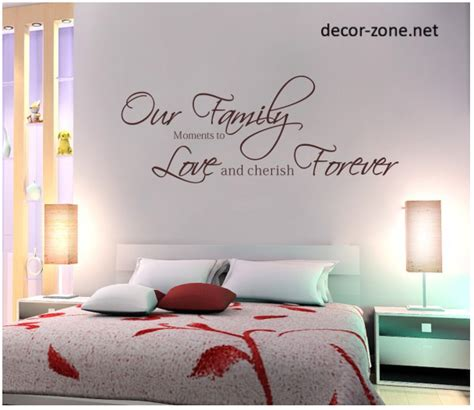 wall writing stickers wall decor ideas for the master bedroom