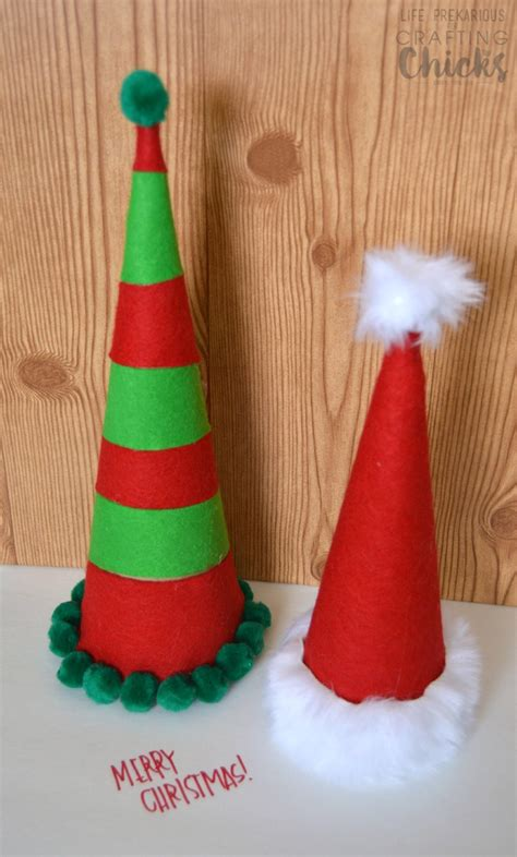 how to make a hat out of card diy cardboard santa hats the crafting