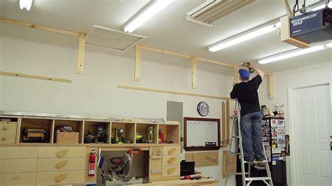 storage shelves for garage wasted space garage storage shelves jays custom creations