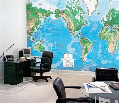 World Wall Map Mural world map wall mural rosenberryrooms com